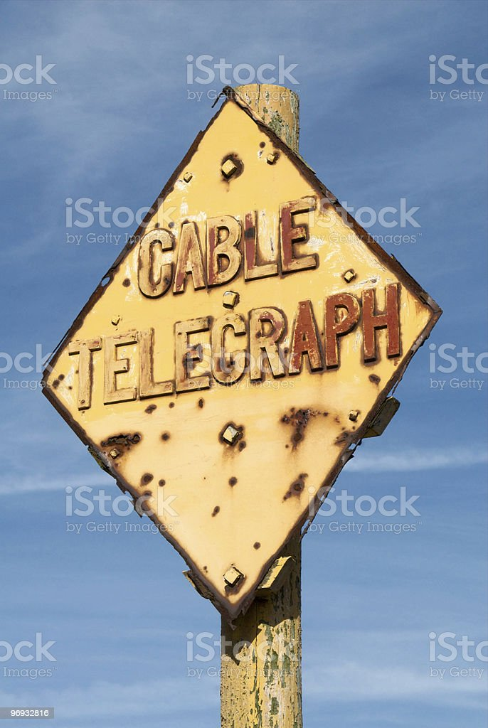 old telegraph post royalty-free stock photo