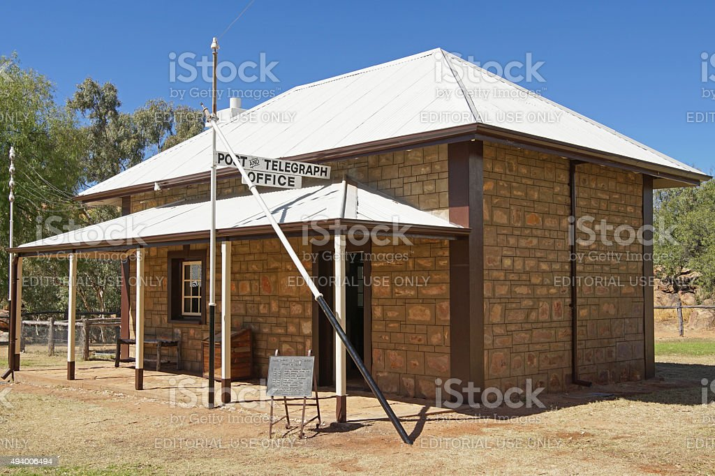 Old Telegraph Station, Alice Springs, Australia stock photo