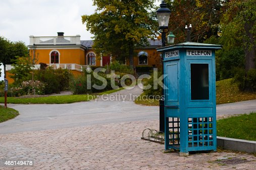 istock Old telephone booth. Stockholm, Sweden. 465149478