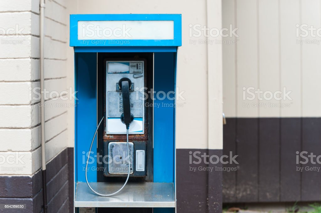Old telephone box stock photo