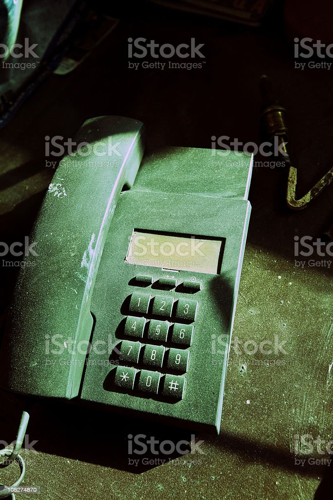 Old Telephone. Cross Processing royalty-free stock photo