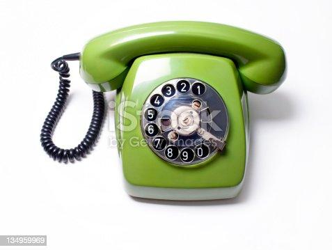 istock old telephone ,green 134959969