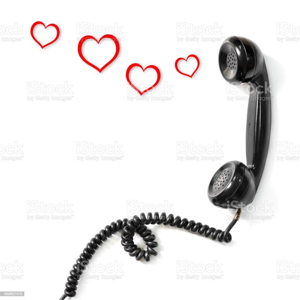 Old telephone handset stock photo