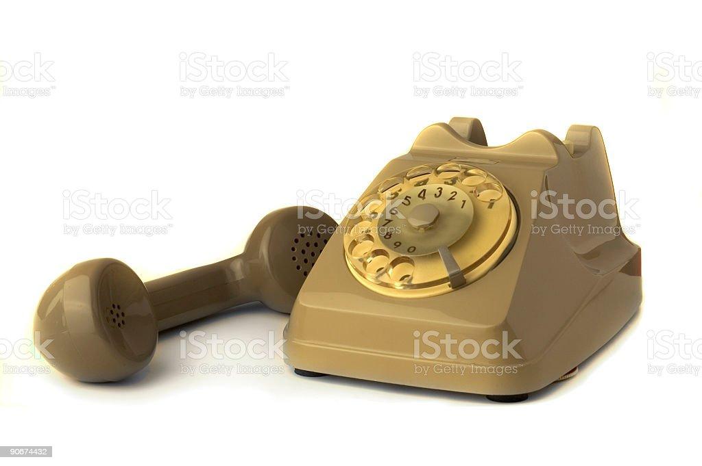 Old telephone II royalty-free stock photo