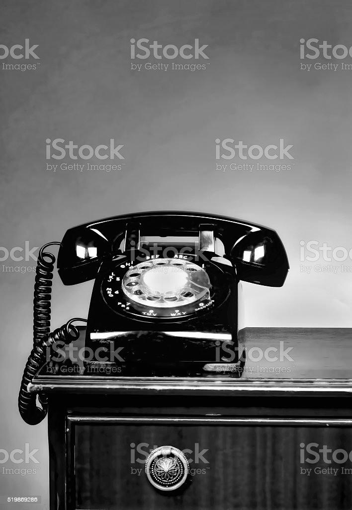 Old Telephone. stock photo