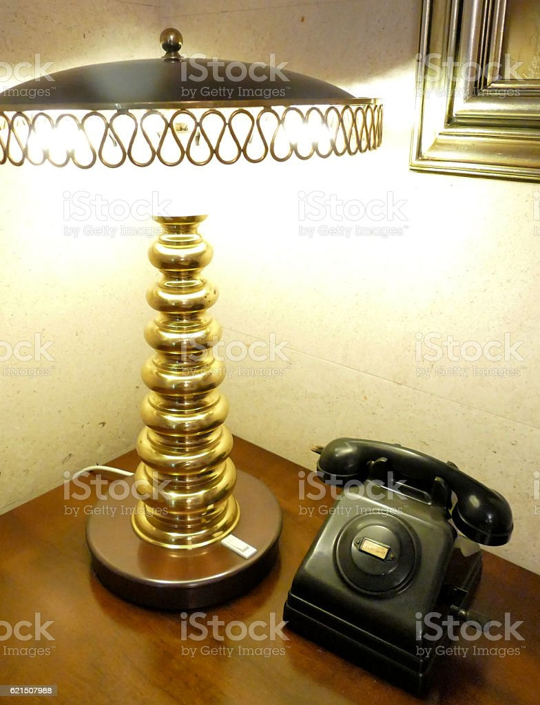 Vecchio telefono  foto stock royalty-free