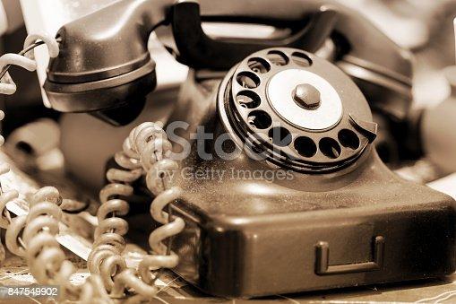 istock Old Telephone 847549902