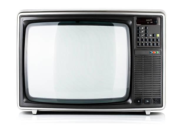 old television isolated - ancient white background bildbanksfoton och bilder