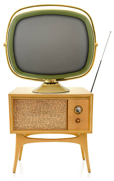 Old Television Old television set from the late 50'.  portable television stock pictures, royalty-free photos & images