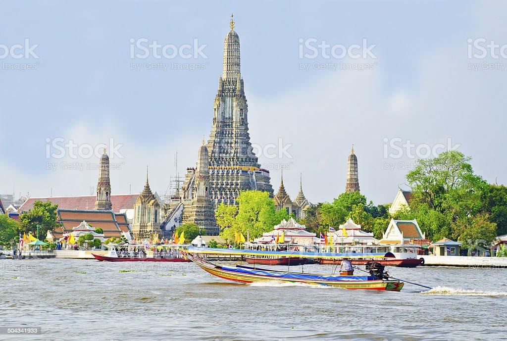 Old Temple Arunratchawararam Thailand stock photo