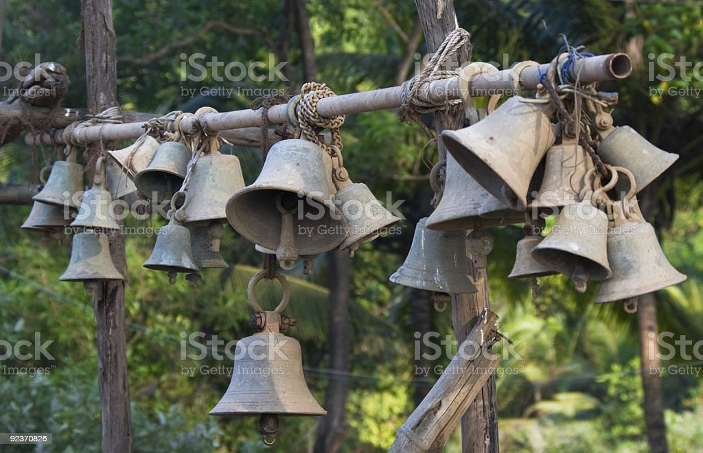 Old temple bells royalty-free stock photo