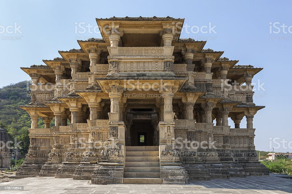 Old temple in India stock photo