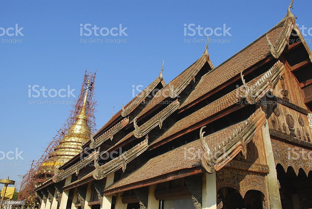 Old temple in Lampang,Thailand royalty-free stock photo