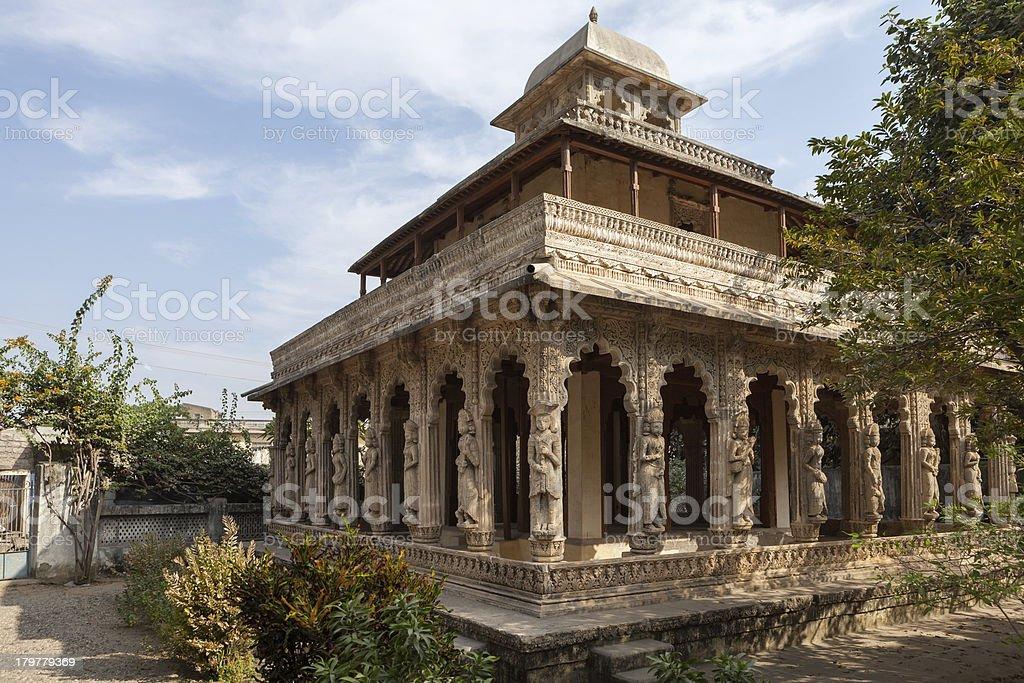 Old temple in Porbandar, India stock photo