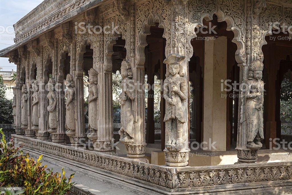 Old temple in Porbandar stock photo