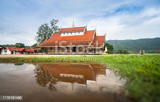 Old temple in Thailand Reflect water / The story ancient temple of is over 400 years old landmark of buddhist - Wat Sri Pho Chai at Na Haeo Loei Thailand - naheaw