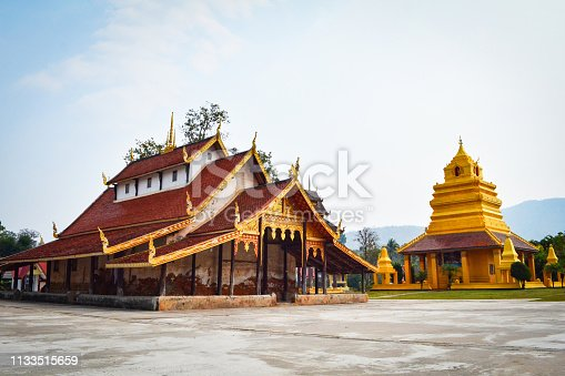 Old temple in Thailand / The story ancient temple of is over 400 years old landmark of buddhist - Wat Sri Pho Chai at Na Haeo Loei Thailand - naheaw