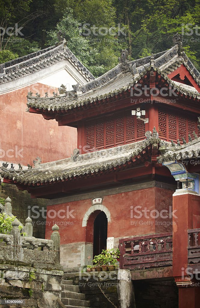 Old Temple in Wudangshan royalty-free stock photo