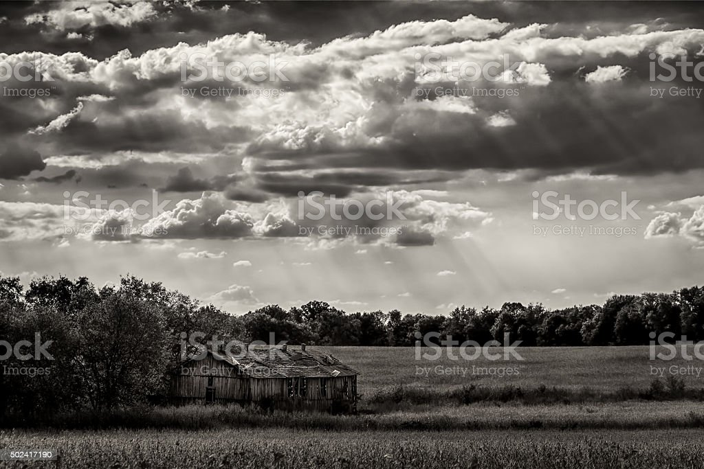 Old Tennessee Barn stock photo