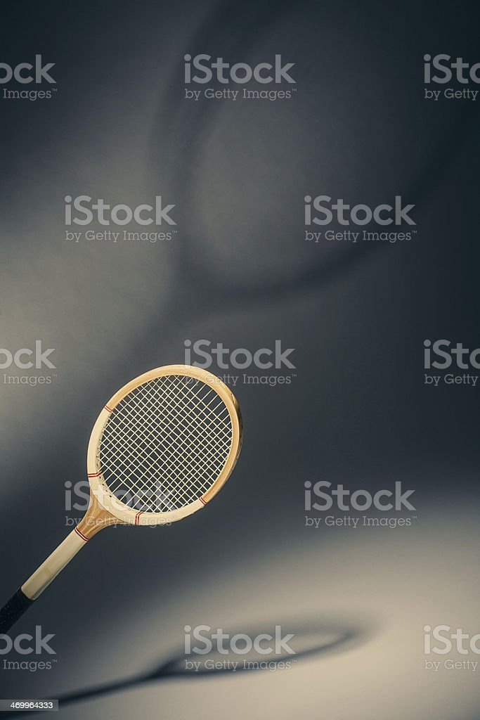 Old tennis racket royalty-free stock photo
