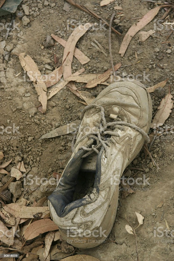 Old tennis shoe #2 royalty-free stock photo