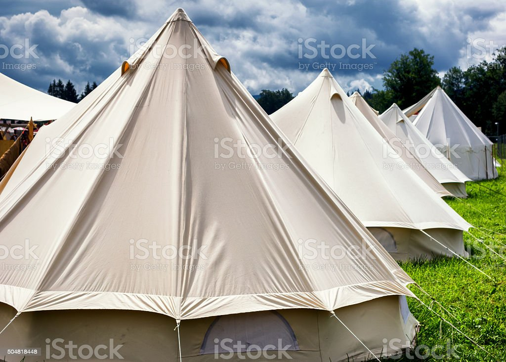 old tent stock photo