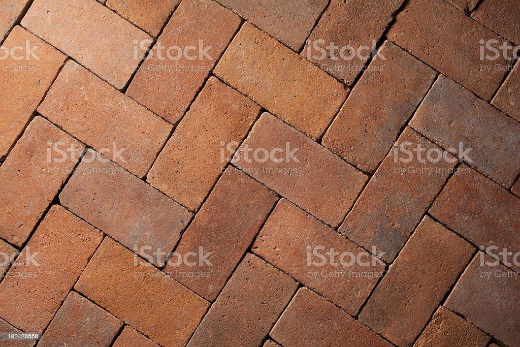 Old terracotta floor royalty-free stock photo
