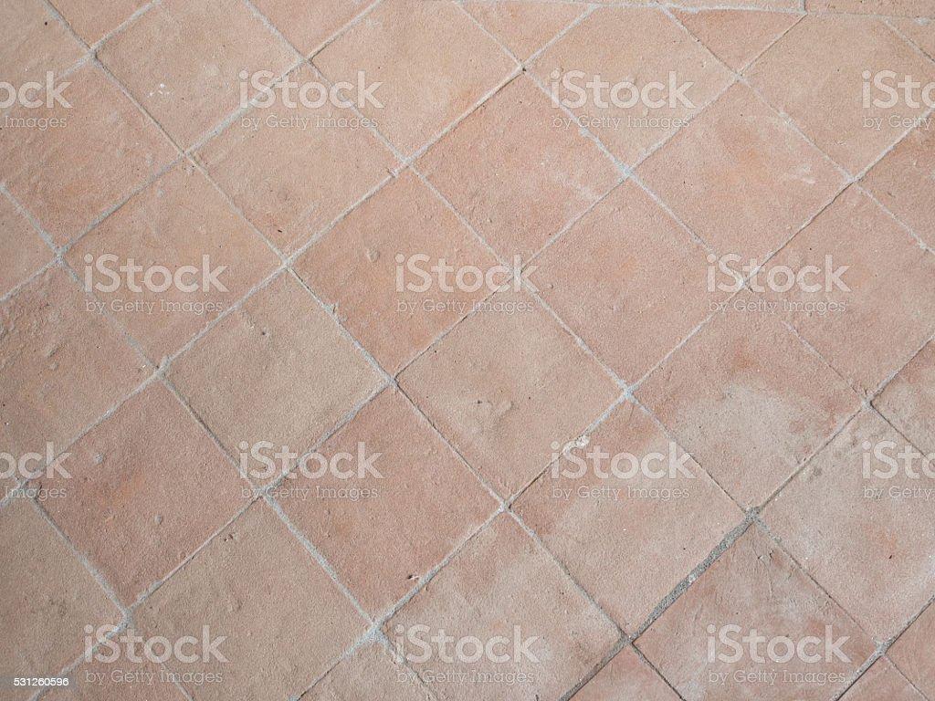 old terracotta tiles flooring italy stock photo