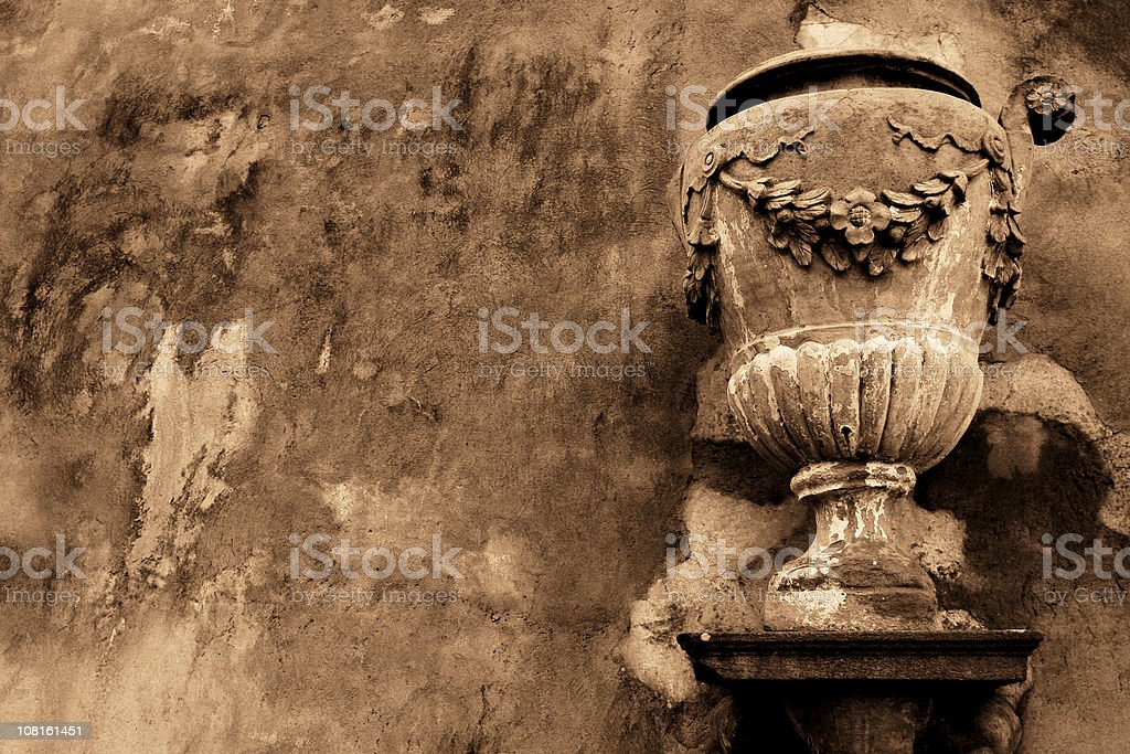 Old terracotta vase in Florence royalty-free stock photo