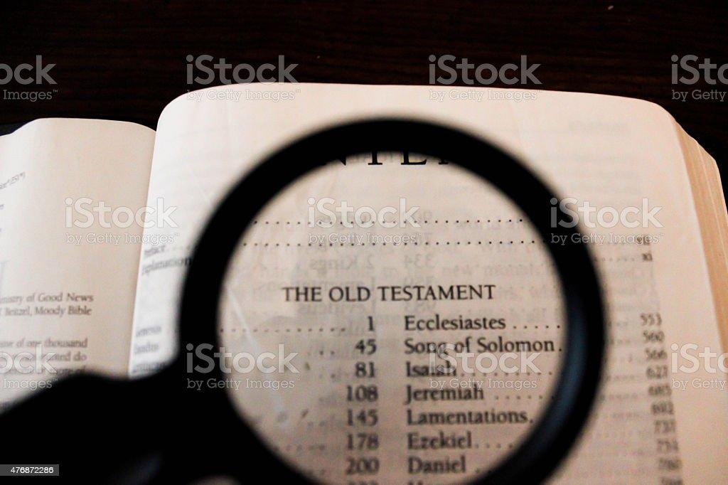 Antiguo testamento lista de libros - foto de stock