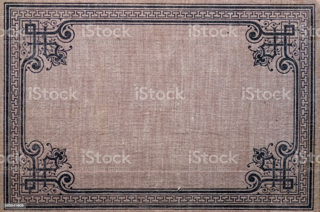Old textile book cover royalty-free stock photo