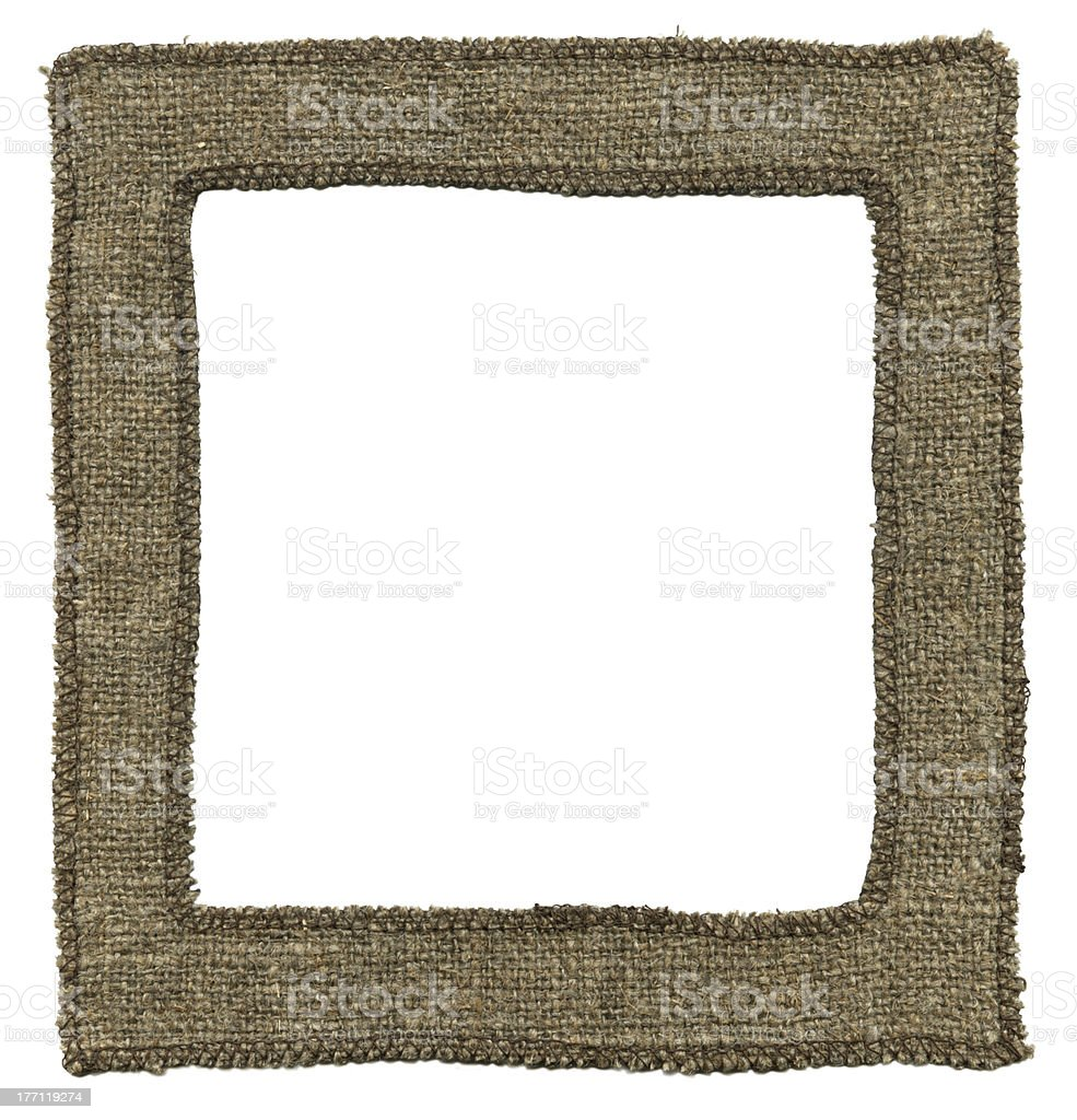 Old textile frame royalty-free stock photo
