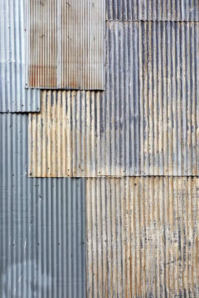 Alte strukturierte Hintergrund von rostigen Wellblechoberfläche – Foto