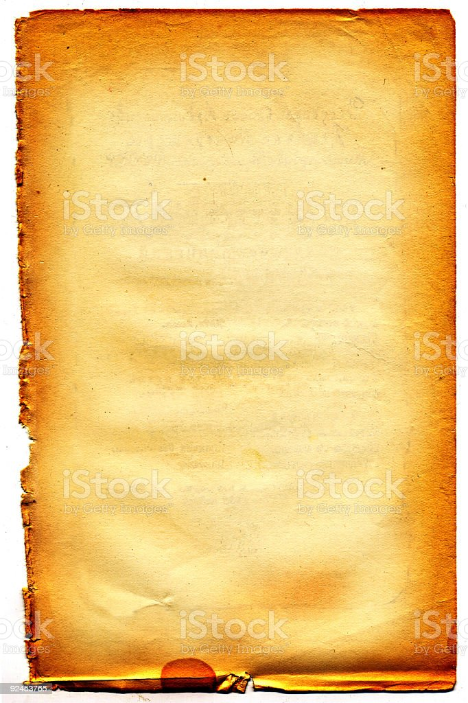 old textured paper over white royalty-free stock photo