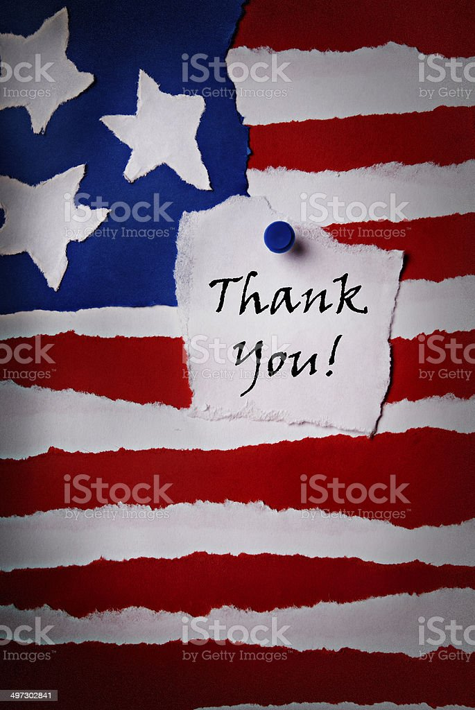 Old Thank You Note stock photo