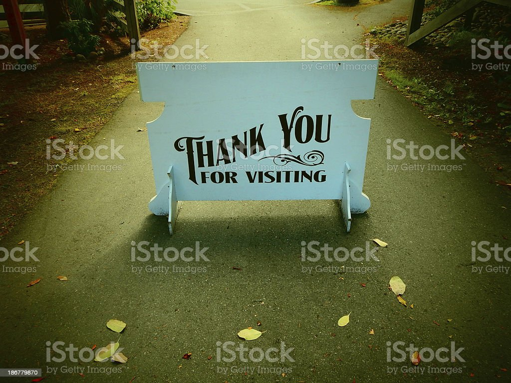 Old Thank You Sign royalty-free stock photo