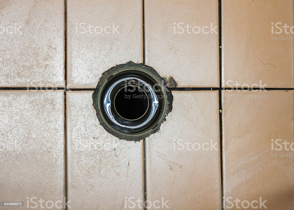 old the hole drainage no strainer stock photo