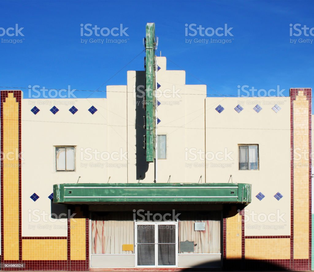 old theater exterior front stock photo
