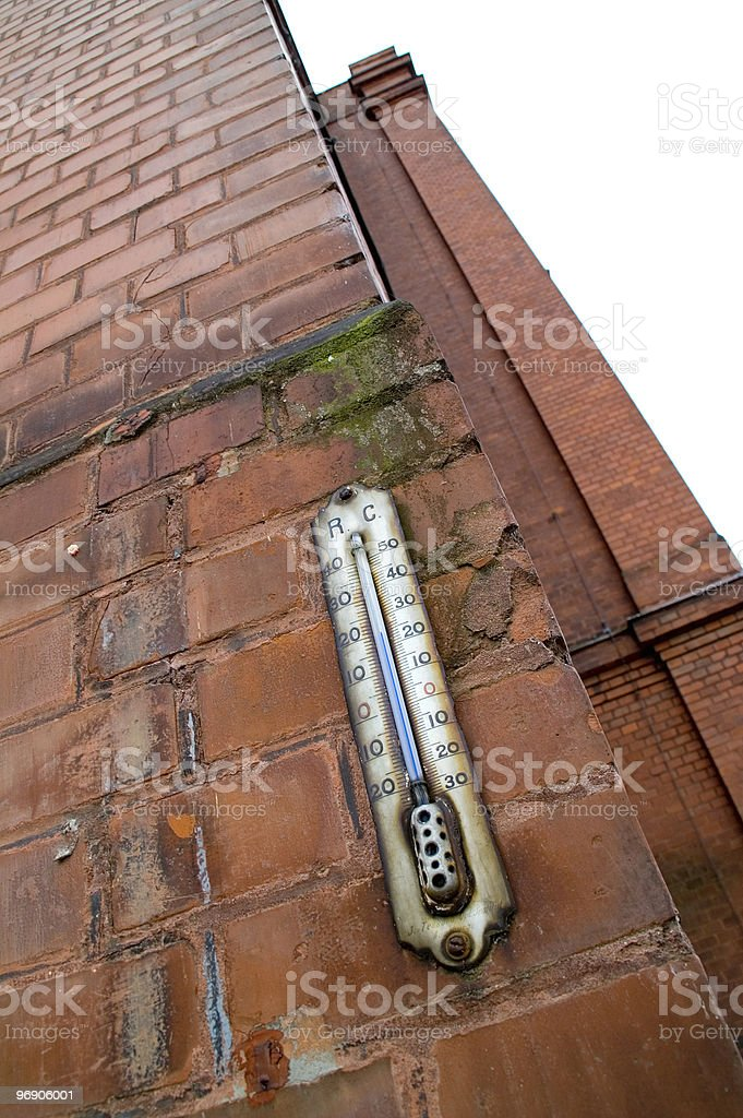 Old thermometer royalty-free stock photo