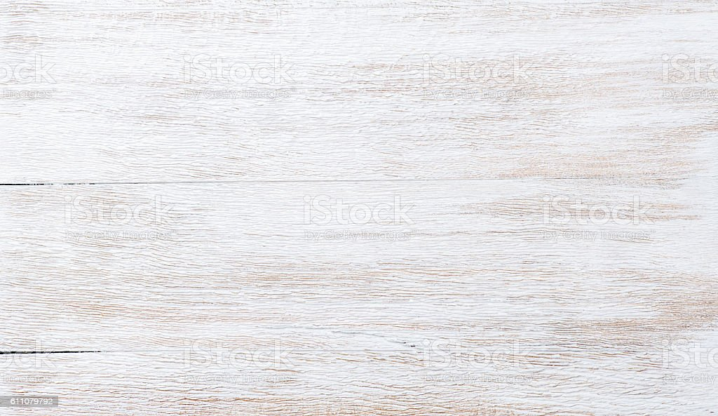 Old threadbare white painted wooden texture, wallpaper or background stock photo