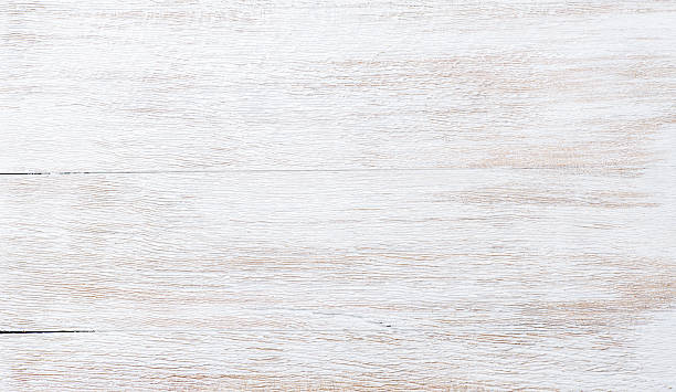 Old threadbare white painted wooden texture, wallpaper or background - foto de stock