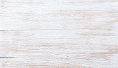 Old threadbare white painted wooden texture, wallpaper or background