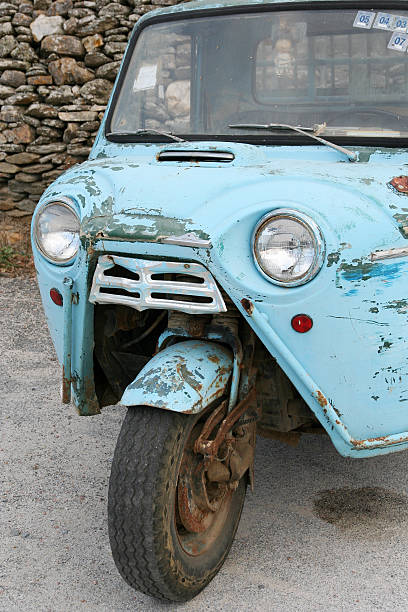 Old Three-Wheeler  three wheel motorcycle stock pictures, royalty-free photos & images