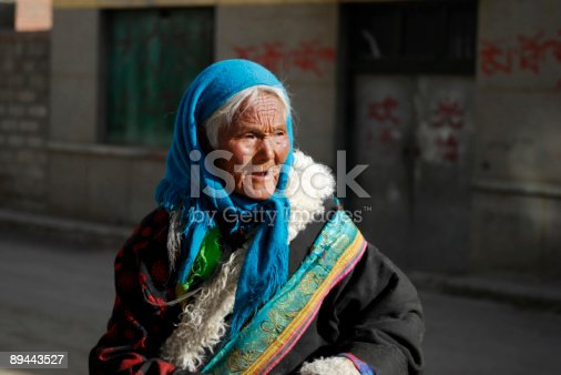 istock old tibetan woman 89443527