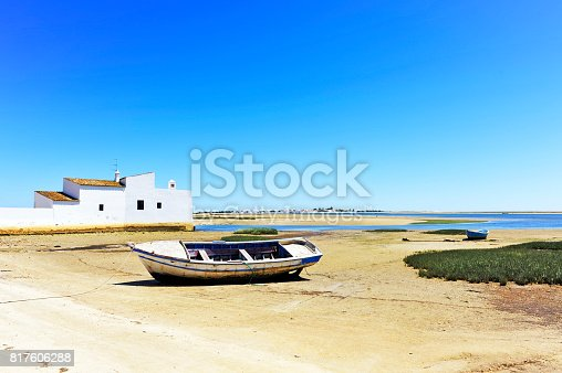 The Ria Formosa Natural Park is a labyrinth of canals, islands, marshland sandy beaches and barrier islands stretching  60 km along the Algarve coast between the beaches of Garrão and Manta Rota.
