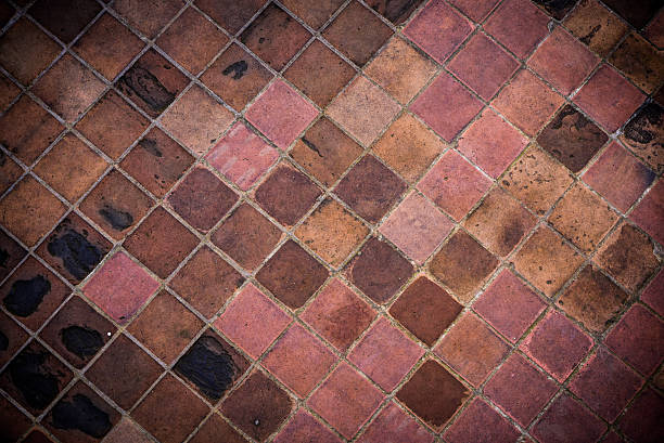 Old tiled floor background – Foto