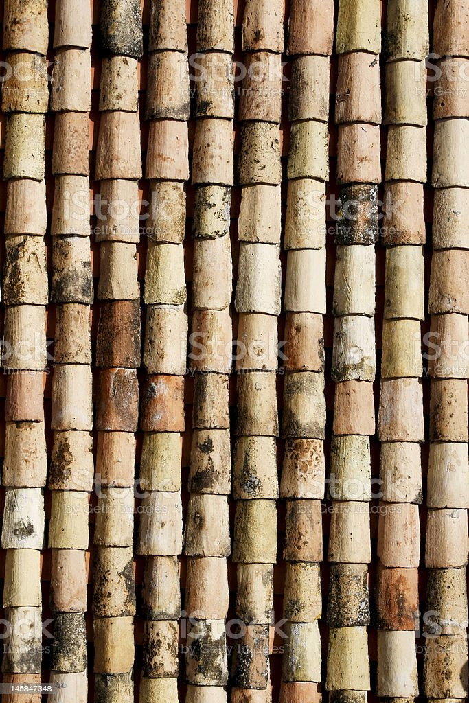 Old tiling roof royalty-free stock photo