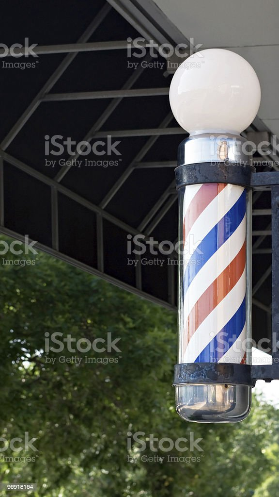 Old Time Barber Pole stock photo