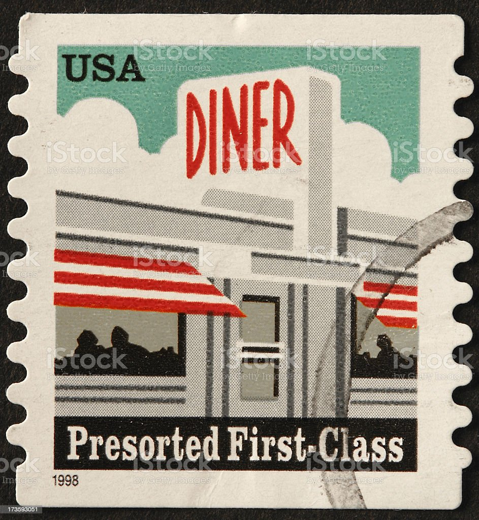 old time diner royalty-free stock photo