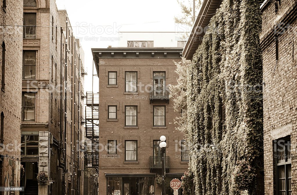 Old time downtown buildings royalty-free stock photo